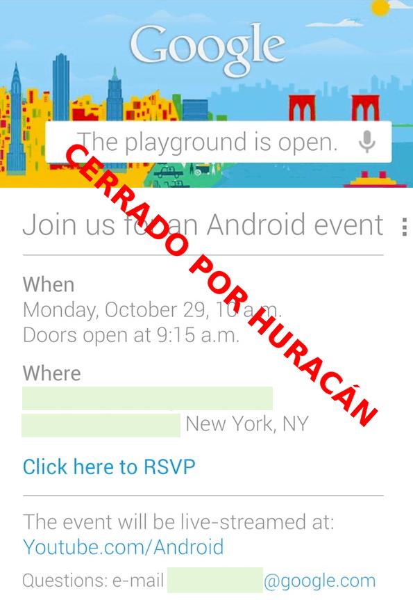 evento google cancelacion