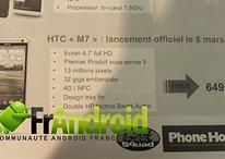 HTC M7 - Se filtra posible precio y fecha de lanzamiento