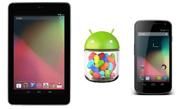 android 4.2 nexus 7 galaxy nexus