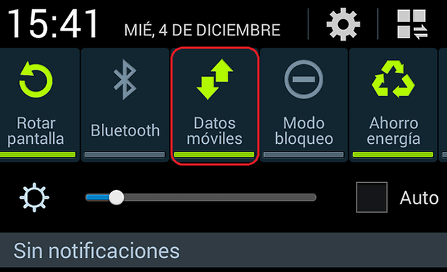 desactivar datos moviles