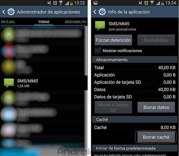 problema com android mms solucion