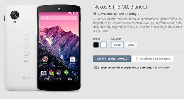 comprar nexus 5