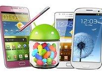 Lista de dispositivos Samsung con actualización a Jelly Bean