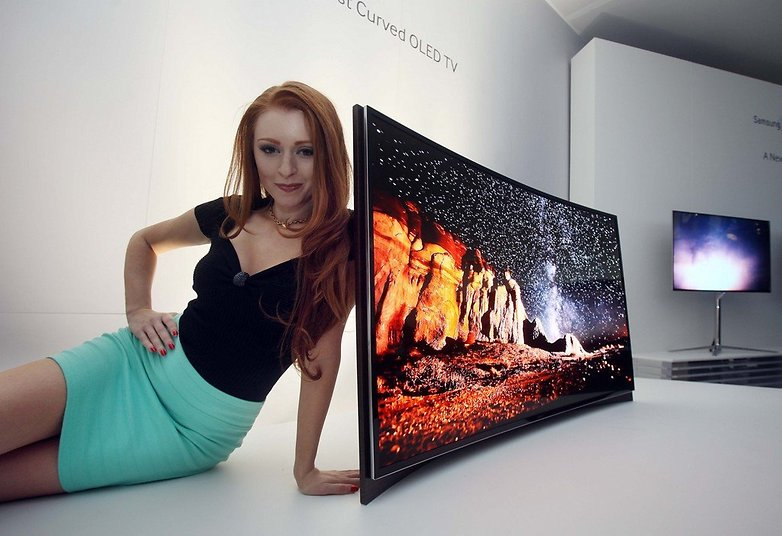Curved OLED TV Model Photo 1