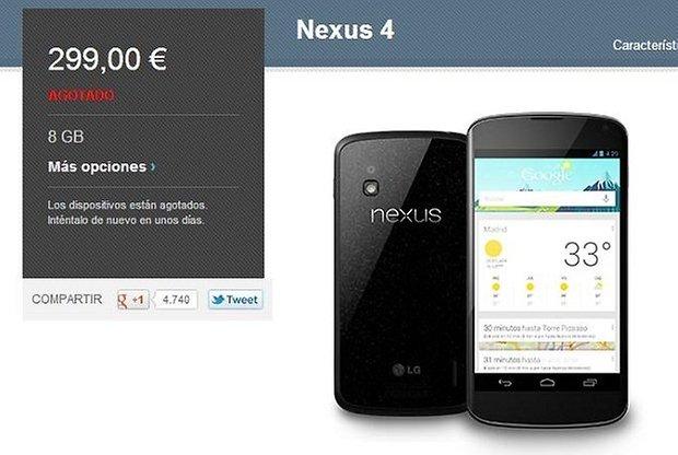nexus 4 pedidos