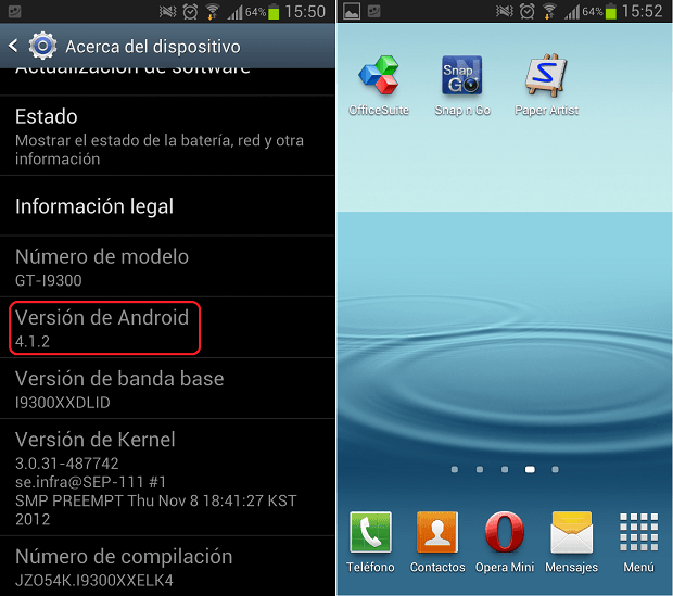 android 4.1.2 samsung galaxy s3