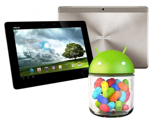 android 4.1 jelly bean asus transformer prime pad infinity