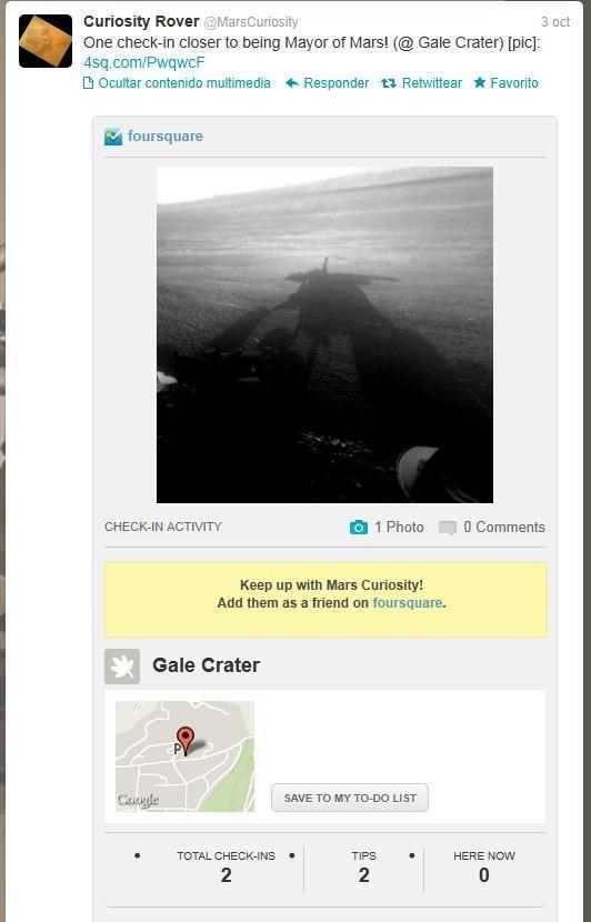 curiosity foursquare nasa