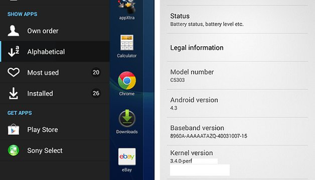 Android 4.3 disponible para descargar en el Sony Xperia SP y Xperia T