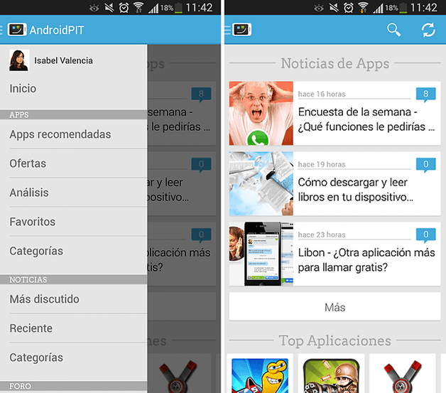 Androidpit app llega a la versi n 2 1 gran for App noticias android