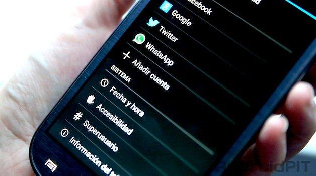 configurar cuentas android