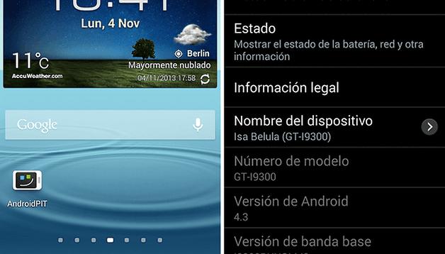Android 4.3 para el Samsung Galaxy S3 - El firmware definitivo