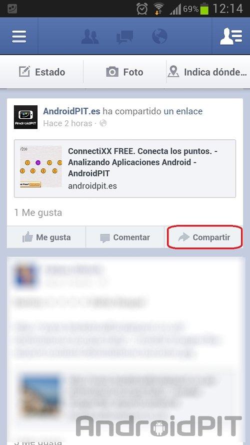 facebook para android 3