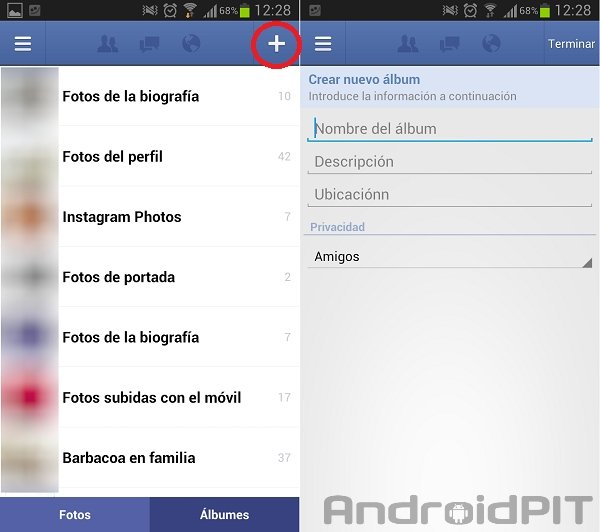 facebook para android fotos