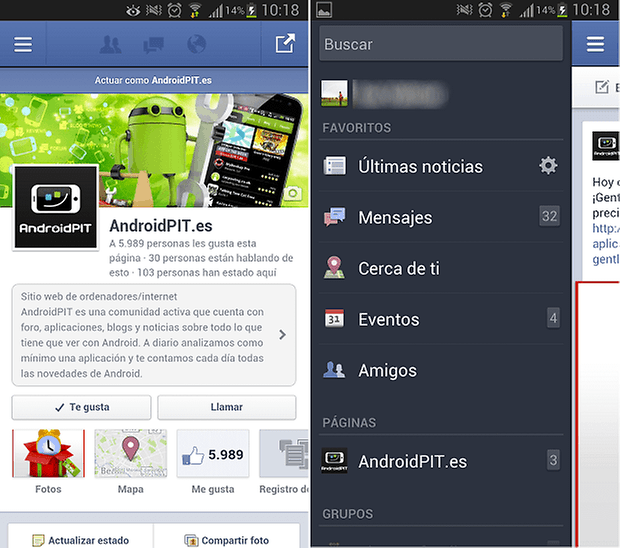 facebook para android nativa