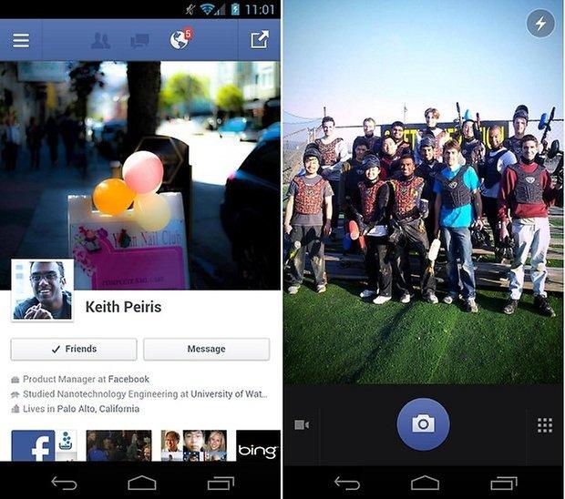 facebook para android actualizacion
