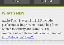 Actualización de Flash Player para todos menos Ice Cream Sandwich