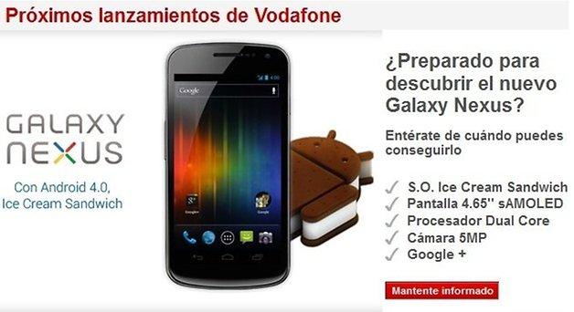 Vodafone España Samsung Galaxy Nexus 2
