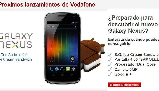Hoy se presenta en España de la mano de Vodafone el Samsung Galaxy Nexus