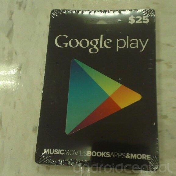 tarjetas de regalo de google play