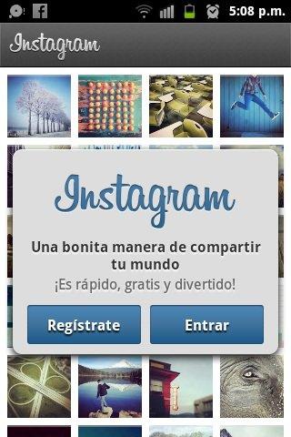 utilizar instagram android