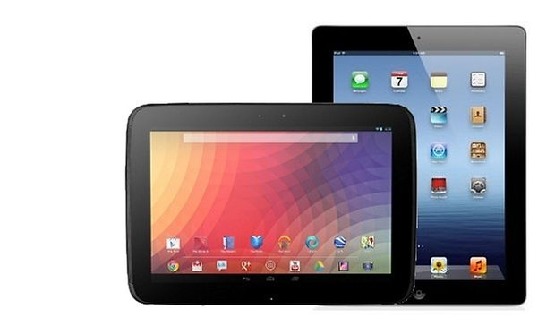 nexus 10 vs ipad 4Gen