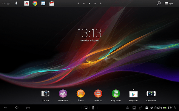 software xperia tablet z 5
