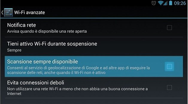 wi fi android 4 3