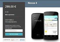 El LG Nexus 4 costará el doble fuera de Google Play - ¿Perdona?