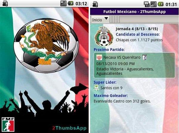 fútbol liga mexicana android