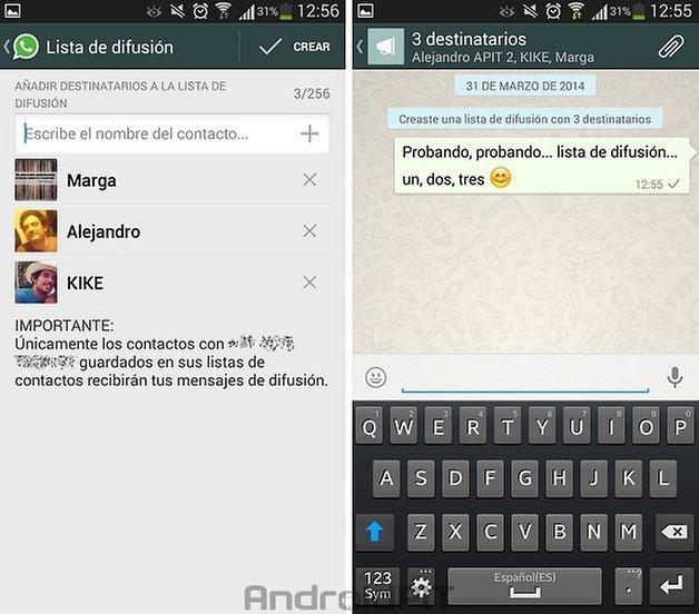 whatsapp lista difusion 3