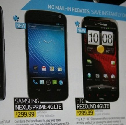 Samsung Galaxy Nexus Nexus Prime