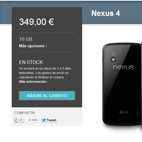 nexus 4 google play