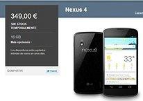 Nexus 4 - ¿Está reponiendo Google el stock?