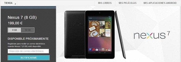nexus 7 8 GB