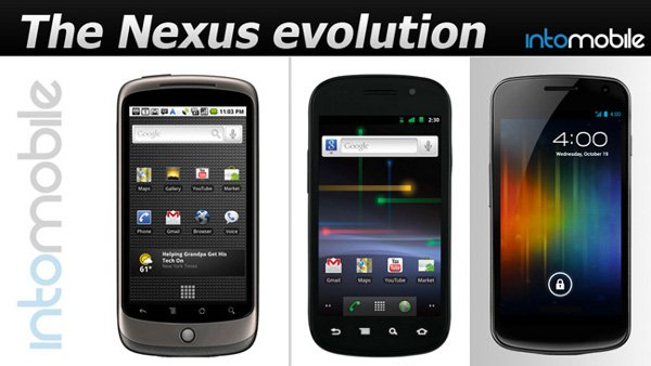 Evolucion Google Nexus