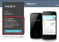 ¡El Nexus 4 ha salido de nuevo a la venta! [ACTUALIZACIÓN]