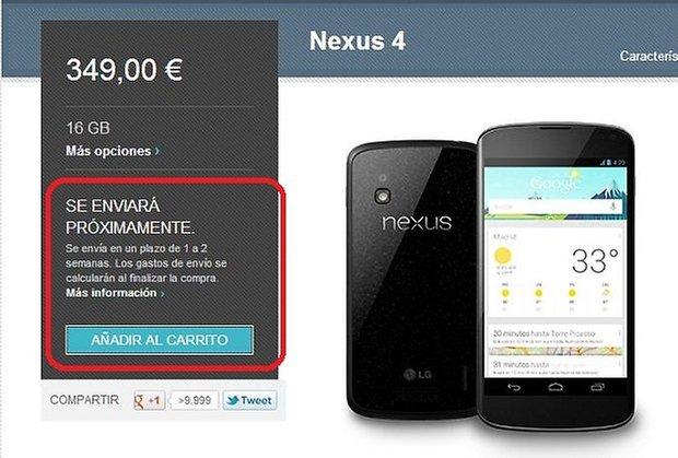 nexus 4 españa