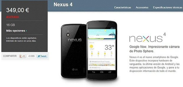 google nexus 4 distribucion