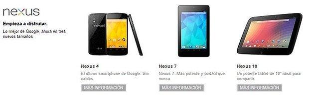 nexus 4, nexus 10, pedidos