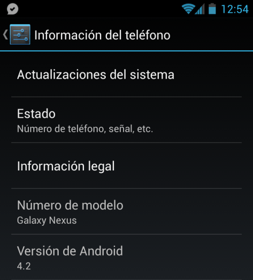 android 4.2 galaxy nexus