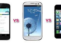 [Comparação] Nexus 4 vs Samsung Galaxy S3 vs iPhone 5