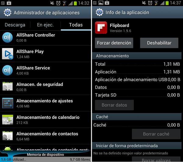 ocultar aplicaciones android ics 2