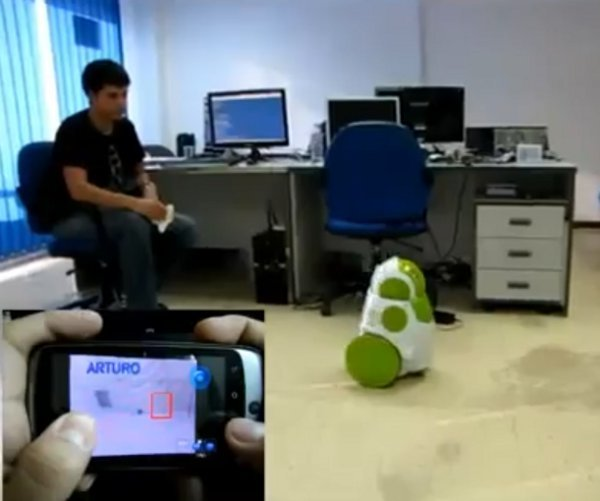 robot android control remoto