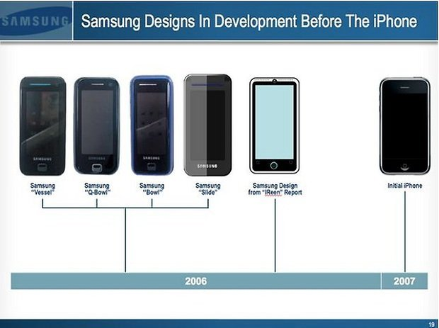 samsung apple diseño copiado