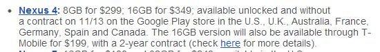 comprar nexus 4 españa google play