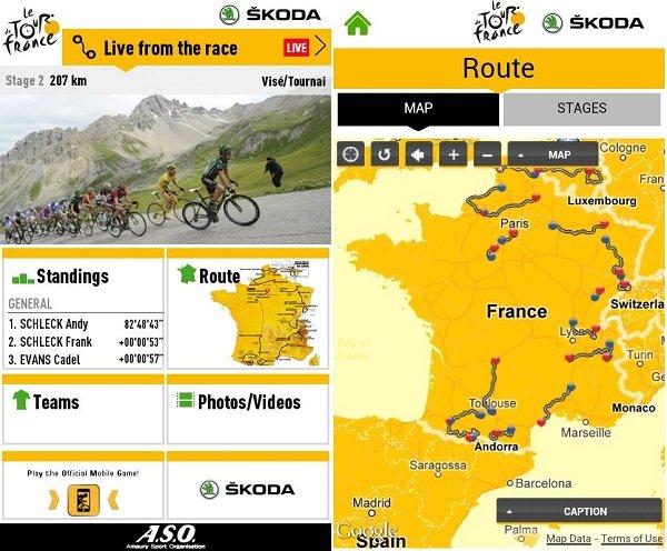 aplicaicon oficial tour francia android