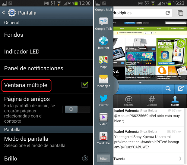 ventana multiple android 4.1.2