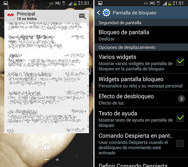 widgets bloqueo s3