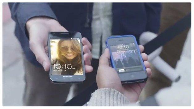 Samsung zomba com Apple e seus fas